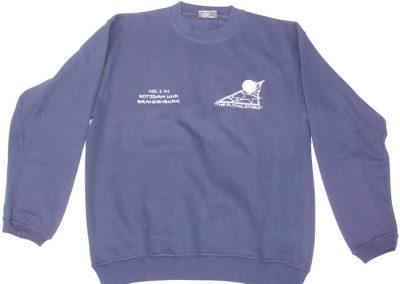 Sweatshirt Blau Frontseite