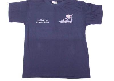 T-Shirt Blau Frontseite