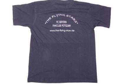 T-Shirt Blau Rückseite