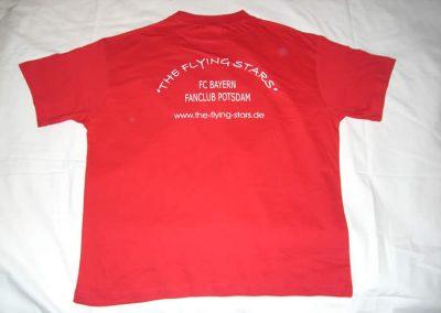 T-Shirt Rot Rückseite