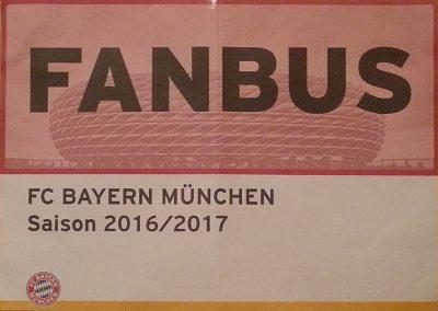 Fanbus Saison 2016 - 2017